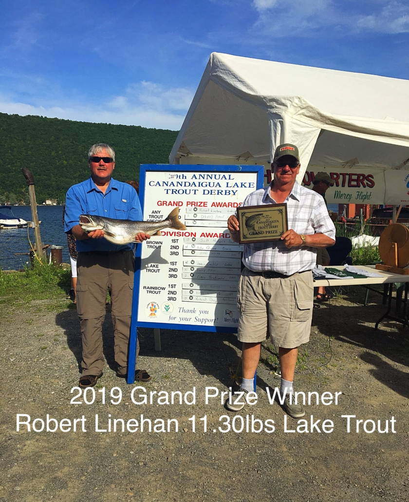 2019 Grand Prize Winner | Robert Linehan 11.30lbs Lake Trout
