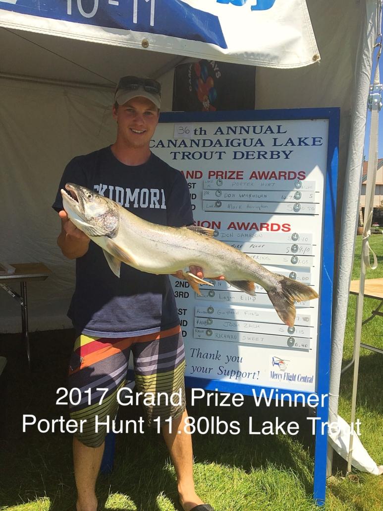 2017 Grand Prize Winner Porter Hunt 11.80lbs Lake Trout
