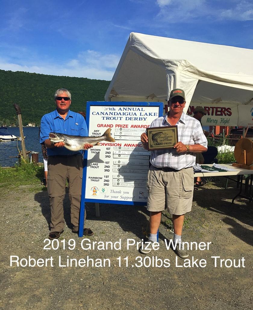 2019 Grand Prize Winner | Robert Linehan 11.30lbs Lake Trout